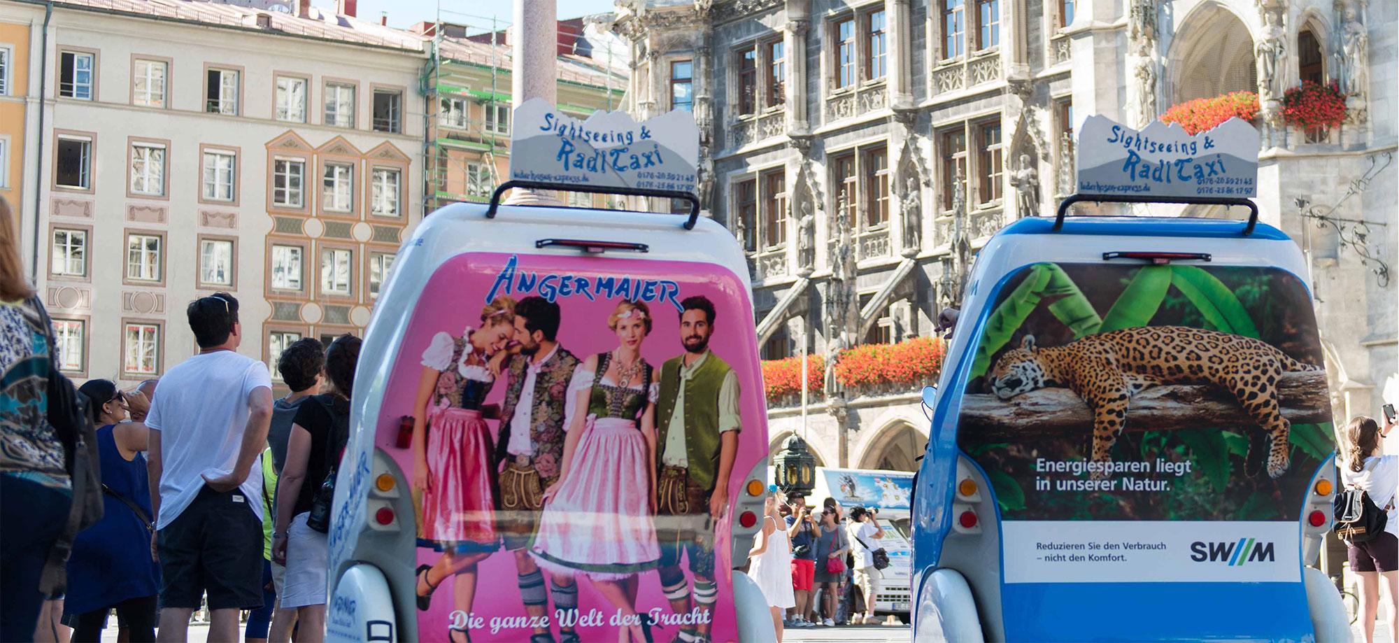 Rikscha München Werbung Altstadt