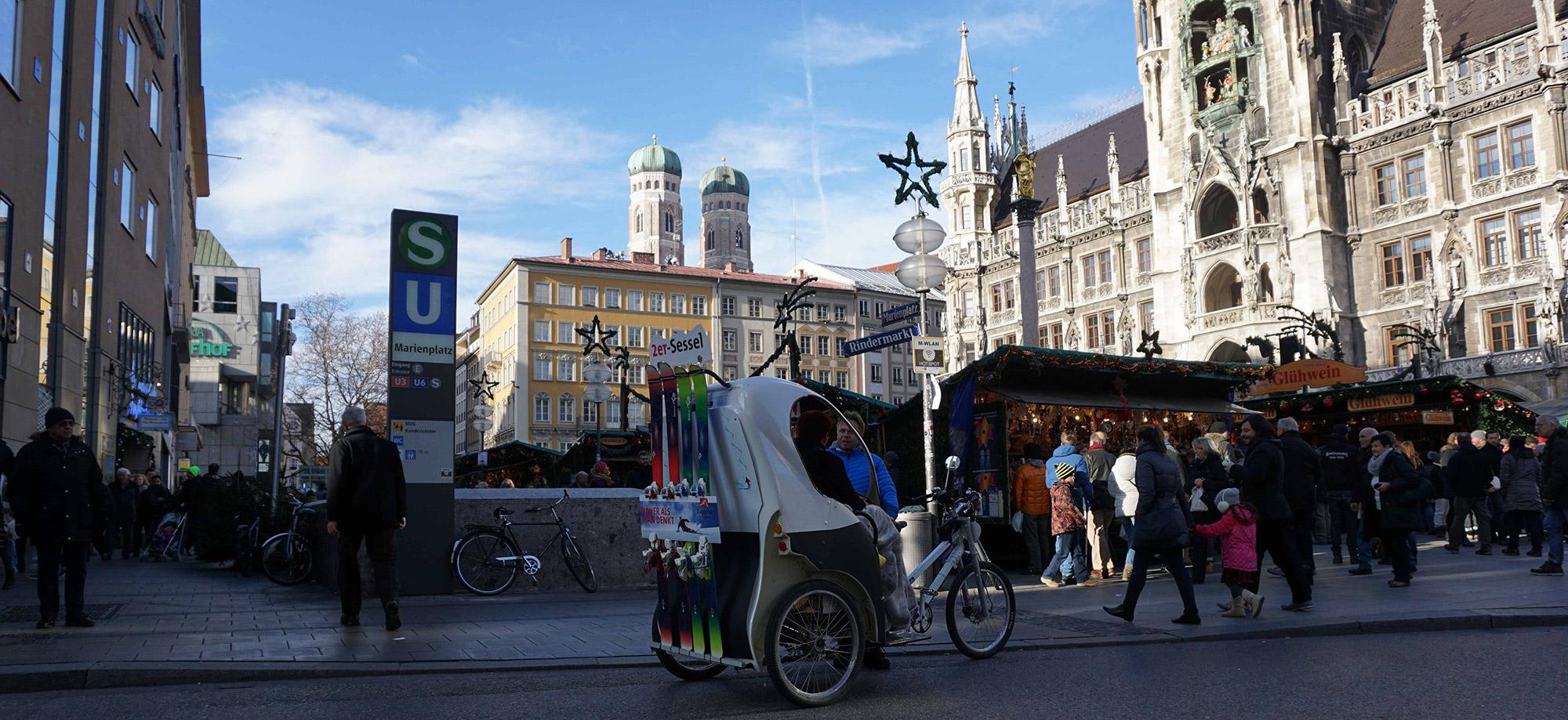 München Rikscha Werbung Zugspitze