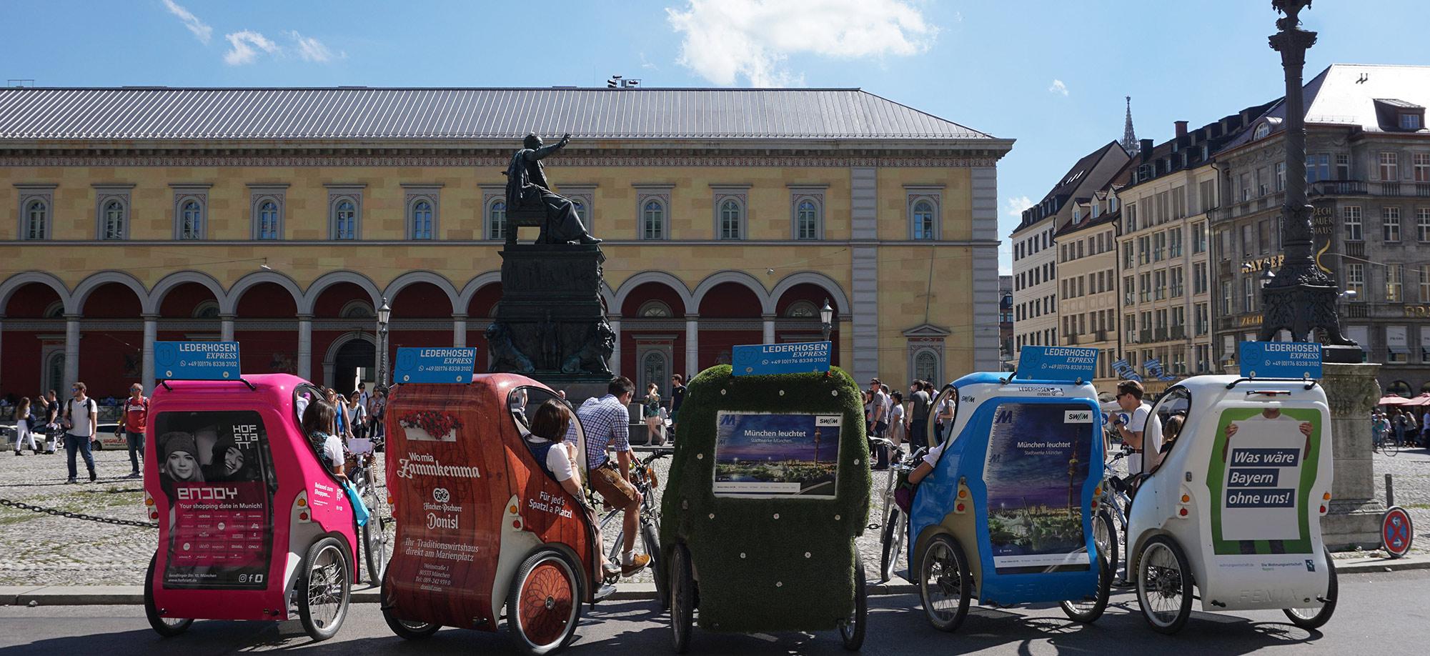 Rikscha München Werbung4